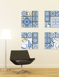 Tile Art Decor in Blues