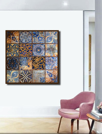 Wall Decor in Arabic Tiles