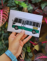 Coaster Bus Post Card