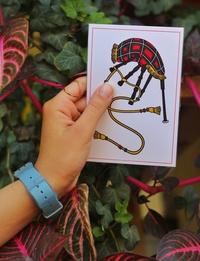 Bagpipe, al-Qirbeh Post Card