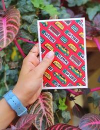 بطاقة بريدية بتصميم التكسي الاصفر