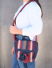 Woven Satchel in Midnight Tones