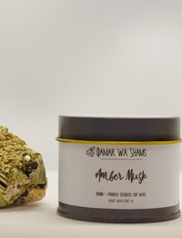 Amber and Musk Candle - 130 Grams