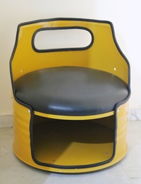 Up-cycled metal chair - Yellow