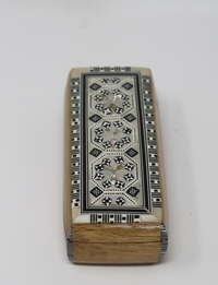 صندوق مجوهرات خشبي - بني فاتح