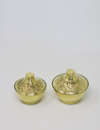 Copper Plated Set: Two Small Bowls