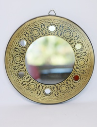 Wall mirror - Copper-plated