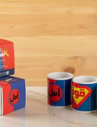 Superhero Mug with positive words