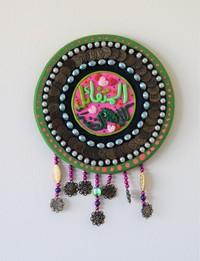 Round wall decor - Green - Medium