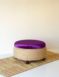 Stool With Storage - Purple
