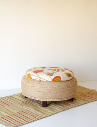 Stool With Storage - Floral