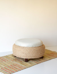 Stool With Storage - Geometric Pattern