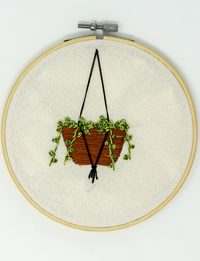 Green Basket Embroidery
