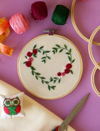 Heart-Shaped Embroidery