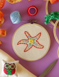 Starfish Embroidery
