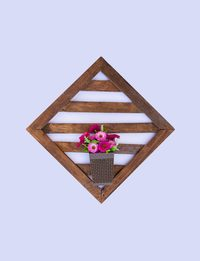 Wooden Lozenge Wall Decor