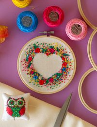Heart Shape - Colorful Embroidery
