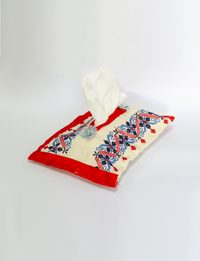 Tissue Box - Blue and Red