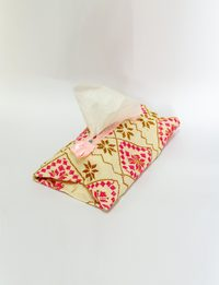 Tissue Box - Pink and Brown