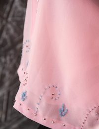 Baby-Pink Beaded Scarf