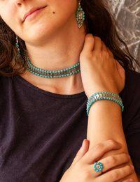 Lira Turquoise Set