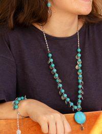 Round Turquoise Lira Set