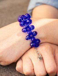 Navy Beaded Bracelet