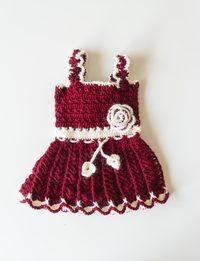 فستان صوف خمري