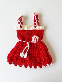 فستان صوف أحمر