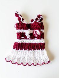 Half Dark Red, Half White Wool Dress