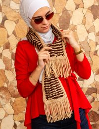 Winter Scarf in Brown and Beige