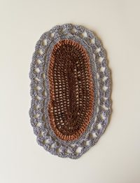 Fabric Tray Decor in Silver