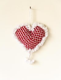 Heart-Shaped Shemagh Keychain