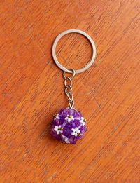 Flower Ball Keychain