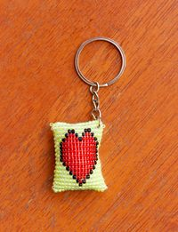 Heart Beads Keychain