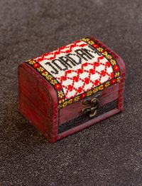Embroidered Wooden Box - Word Jordan