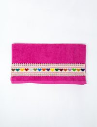 ٍSet of Two Pink Embroidered Towel