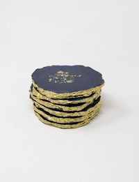 Random Shaped Coasters Set - Navy