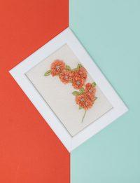 Brazilian Embroidery - Orange Flowers