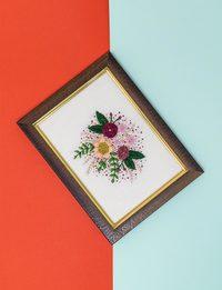 Brazilian Embroidery - Flower Bouquet