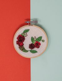 Brazilian Embroidery - Roses Magnet