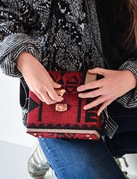 Bedouin Box Bag in Red and Black