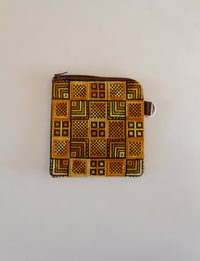 Square Embroidered Wallet - Orange Shades