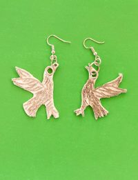 Bird Earrings - White