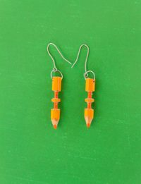 Colored Pencils Earrings - Orange