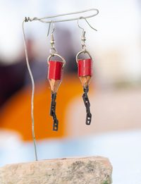 Pencil Chain Earring