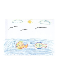 قميص أطفال بتصميم السمكة الضاحكة