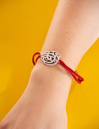 Bracelet with Calligraphy in Red