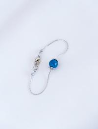 Round Blue Stone Bracelet