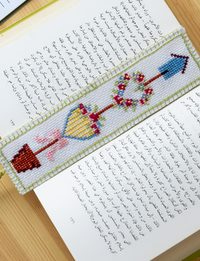 A White Hand-Embroidered Bookmark